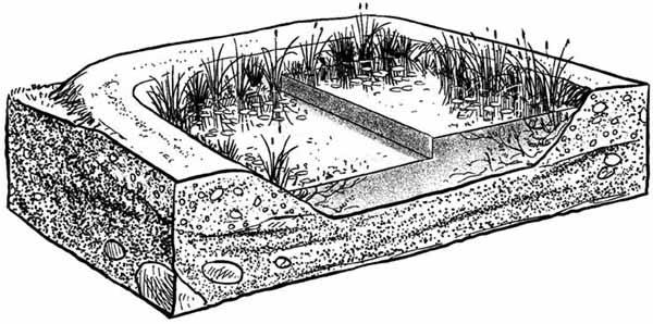 Nivel del agua en balsas agrícolas