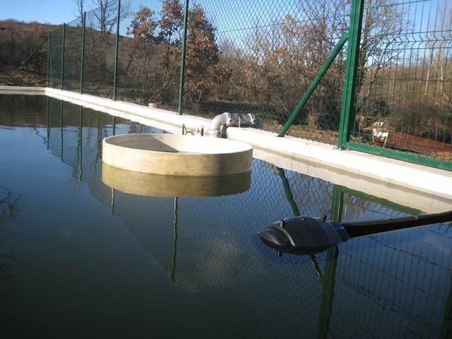 Obtención del agua de balsas agrículas